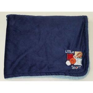 Babies R Us Little Sport Blue Fleece Blanket Baby